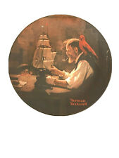 """Norman Rockwell Plate """"The Ship Builder�-Certificate/Bo xed"""