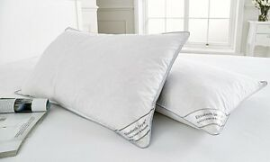 Duck Feather & Down Pillow Pair With Piped Edging ~ ONLY £12.99 ~ FREE P&P ~