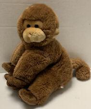 "Vintage GUND Peanut The Monkey Plush Stuffed Animal Toy 1985 Brown 12"" Rare"