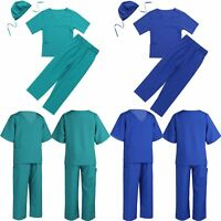 Child Doctor Nurse Surgeon Scrubs Uniform Fancy Dress up Kids Hospital Costume