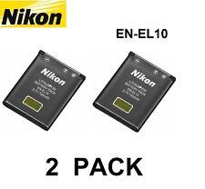 2 PACK Original OEM NIKON Coolpix S225 S230 S500 S510 S520 Battery EN-EL10