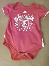 Adidas Infant Girls Wisconsin Badgers 1 Piece Size 12 months