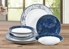 12 piezas Conjunto de Cena de jardín azul de medianoche rápido y gratuito de entrega