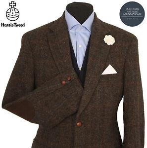 Harris Tweed Jacket Blazer Size 40R Herringbone Windowpane Check BARUTTI EDITION