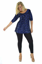 Viscose Evening, Occasion 3/4 Sleeve Tunic Tops for Women