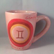 Tabletops Unlimited Gemini Coffee Cup Mug Zodiac Pink Astrology TU II Stoneware