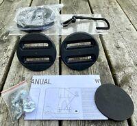 "K2 Snowboard Bindings Union Discs & Hardware ~ 2 Sets of 4"" Discs ~ OEM"