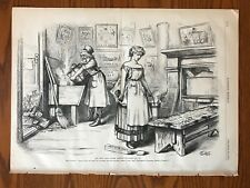 Thomas Nast. Uncle Sam and Columbia Cleaning House. Tammany.  Engraving, 1871.