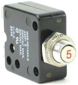 new W58-XB1A4A-5 5amp 250vac 50vdc Circuit Breaker