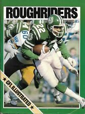 Ottawa Rough Riders - Saskatchewan Roughriders 1981 Off. Program Lester Brown