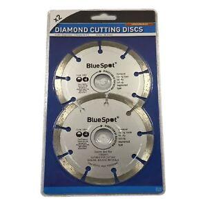 "2 x 115mm Diamond Cutting Discs 4.5"" Angle Grinder Blade, Brick Stone & Concrete"