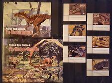 Briefmarken Dinosaurier Prähistorische Tiere Papua Guinea Bl.+KB.+satz,postfrisc