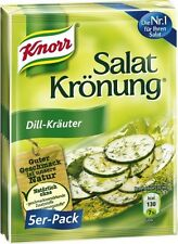 Knorr Salat Kronung (kroenung) Salad dressing mix: DILL-KRAUTER (5 packets)