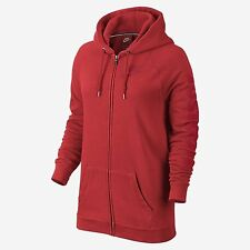 Nike Rally Boyfriend Fit Full Zip Women's Hoodie RED 718818 696 SIZE SMALL NEW