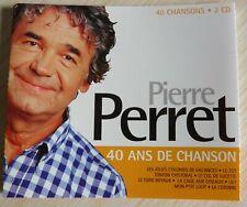 2 CD ALBUM COMPILATION PIERRE PERRET 40 ANS DE CHANSON 40 TITRES 1997 BEST OF