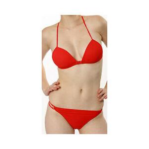 "Marlies Dekkers ""Red"" Triangle Front Fastening Bikini Top Wire Free"