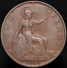 More details for 1919 kn   george v one penny   bronze   coins   km coins