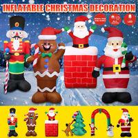 2.4m Christmas Inflatable Santa Claus Snowman Airblown LED Lights Up Yard Decor