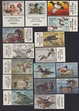 US MD1-MD22 Maryland State Duck Stamp Mint OG NH SCV $268 Some w/Tab