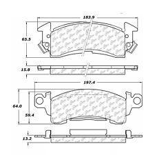 Centric Parts 300.00520 Front Premium Semi Metallic Brake Pads