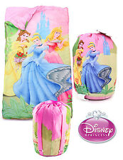 Disney Princess Kids Girls Travel Party Slumber Sleeping Bag w/ Sling Backpack
