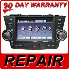 toyota highlander other repair 08 09 10 11 12 toyota highlander radio gps navigation dvd drive fix e7014