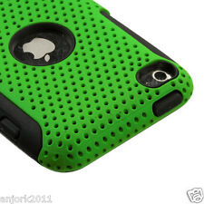 APPLE iPOD TOUCH 4 DUAL LAYER HYBRID HARD CASE SKIN COVER ACCESSORY GREEN