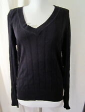 Fashion Bug Black V-neck pullover sweater Med *FREE SHIPPING* New With Tags