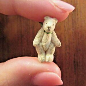 Micro Mini miniature vintage TEDDY BEAR artisan dollhouse jointed