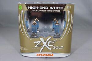 Sylvania Silverstar ZXE GOLD H11 Pair Set Headlight Bulbs Xenon Fueled NEW