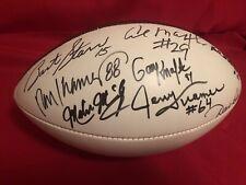 Bart Starr Kramer Robinson Packers HOF & Stars Signed Football JSA Full Letter