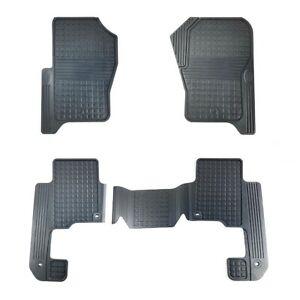 2008-2012 Land Rover LR3 LR4 Heavy Duty Rubber Floor Mat Set Genuine LR006238
