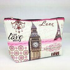 Kosmetiktasche Love Story London Paris England France Eiffel ClockTower Case Bag