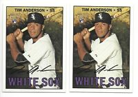 2 Card Lot - TIM ANDERSON 2016 Topps Heritage High Number RC Rookie #674 CWS