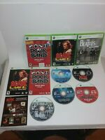 5 GAMES Rock Band 1 & 2 AC/DC Beatles Track Pack Volume 2 (Xbox 360) Lot Bundle