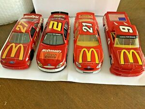 Lot of 4 Racing Champions  1:24 NASCAR McDonald's #27, #2,#21 & 9