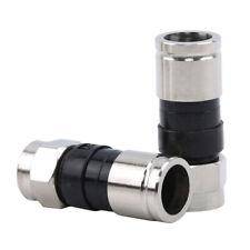 10Pcs F-Type Male Plug Compression Connectors For RG6 Coax Coaxial TV Cable HQ