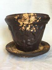 "Decorative 6"" Flower Pot Provence for Plants Dark Brown"