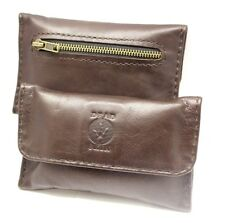 Brown leather tobacco pouch handmade soft settler leather-made by Deadskin AU