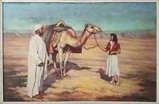 signée Pierre Dillé grande peinture orientaliste.Oriental painting voyage color