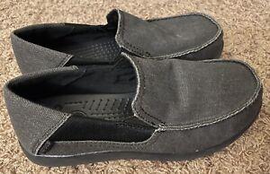 Crocs Kids Santa Cruz II Loafer BLACK Size 5 J5 204025