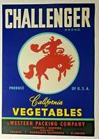 Cheerio Brand California Vegetables Crate Label Merrill Packing Co Salinas,Ca.