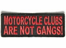 Motorcycle Clubs Are Not Gangs RED Embroidered Officer Biker Vest Patch PAT-3528