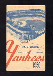 1956 New York Yankees Game Program July 14 - Mickey Mantle HR MVP Season NICE!!!
