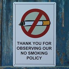 NO SMOKING POLICY Tin Signs Wall Decor Metal Painting Funny Poster Plaque Plate