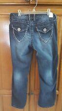 Women's MAURICE'S Stretch Dark Wash Flap Pocket  Size 5/6  x L26 CAPRIS