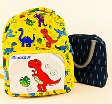 Childrens Backpack Dinosaur PreSchool Toddler 12in insulated lunchbag New