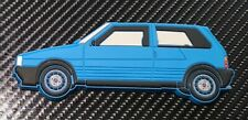 Fiat Uno Turbo Fridge Magnet Blue