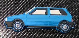 Fiat Uno Turbo Fridge Magnet Blue