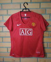 Manchester United Jersey 2007 2009 Shirt Soccer Women Size XL Nike Football